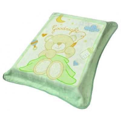 Υπνόσακος / Κουβέρτα 0-6 Μηνών Βελουτέ 80x90 - Viopros Junior - 1122 - Βεραμάν | Υπνόσακοι | DressingHome