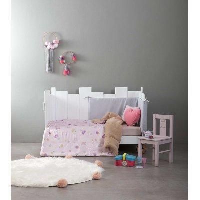 Κουβερτοπάπλωμα Κούνιας 110x140 - Nima Kids - Piep Trot | Μεμονωμένα Παπλωματάκια | DressingHome
