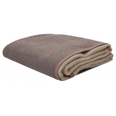 Κουβέρτα Υπέρδιπλη Δίχρωμη Ακρυλική 210x240 - Viopros - Καφέ / Μπεζ | Κουβέρτες | DressingHome