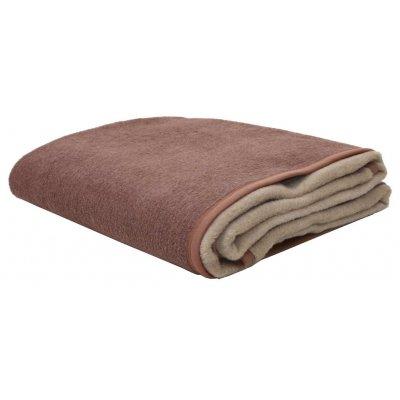 Κουβέρτα Υπέρδιπλη Δίχρωμη Ακρυλική 210x240 - Viopros - Καστανό / Μπεζ | Κουβέρτες | DressingHome