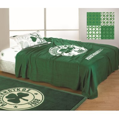 Κουβέρτα Υπέρδιπλη Fleece 210x230 - Palamaiki - Panathinaikos Official Licenced - FC 1908 | Κουβέρτες | DressingHome