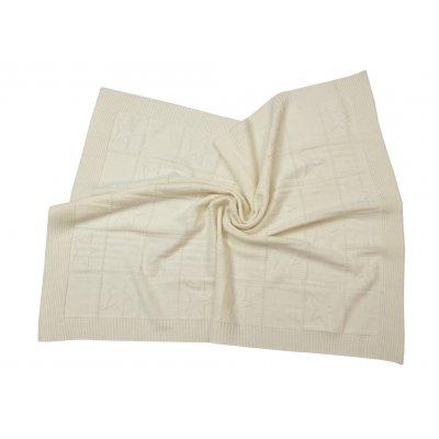 Κουβέρτα Κούνιας Πλεκτή 110x140 - AnnaRiska - Joy - Ivory   Κουβερτούλες   DressingHome