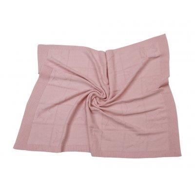 Κουβέρτα Κούνιας Πλεκτή 110x140 - AnnaRiska - Joy - Pink   Κουβερτούλες   DressingHome