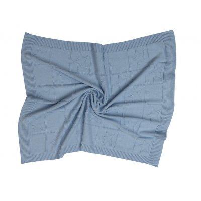 Κουβέρτα Κούνιας Πλεκτή 110x140 - AnnaRiska - Joy - Sky Blue   Κουβερτούλες   DressingHome