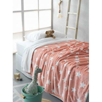 Κουβέρτα Κούνιας Με Γούνα 110x140 - Palamaiki - Star Blanket - Pink | Κουβερτούλες | DressingHome