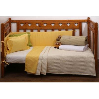 Κουβέρτα Κούνιας Πικέ 115x155 - AnnaRiska - Michelle - Ivory | Κουβερτούλες | DressingHome