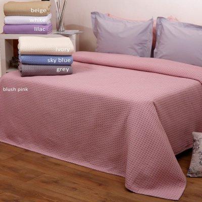 Κουβέρτα Μονή Πικέ 160x240 - AnnaRiska - Michelle - Λευκή | Κουβέρτες | DressingHome