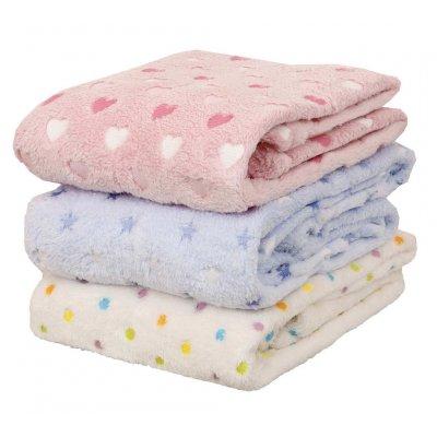 Κουβέρτα Μονή Fleece 152x220 - Viopros Junior - Αστεράκια - Σιέλ   Κουβέρτες   DressingHome