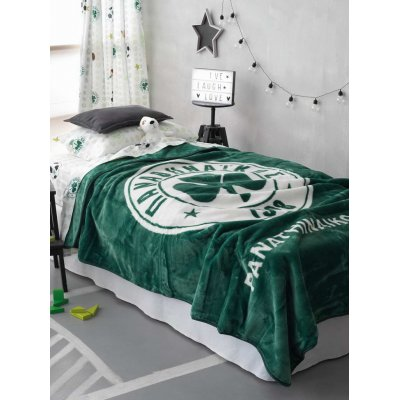 Κουβέρτα Μονή 160x220 - Palamaiki - Panathinaikos Official Licenced - FC 1908 Velour | Κουβέρτες | DressingHome