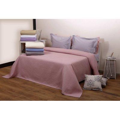 Κουβέρτα Μονή Πικέ 160x240 - AnnaRiska - Michelle - Blush Pink | Κουβέρτες | DressingHome