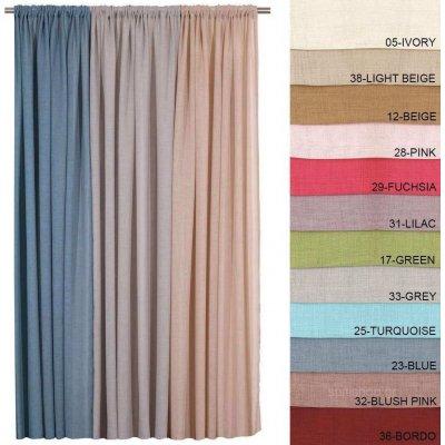Κουρτίνα με τρέσα 140x270 - AnnaRiska - 103 Γάζα Μονόχρωμη - 32 - Blush Pink | Κουρτίνες | DressingHome