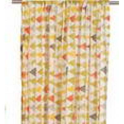Κουρτίνα με τρέσα 140x270 - Viopros - Γάζα Εμπριμέ - Τόρυ Φυστικί | Κουρτίνες | DressingHome