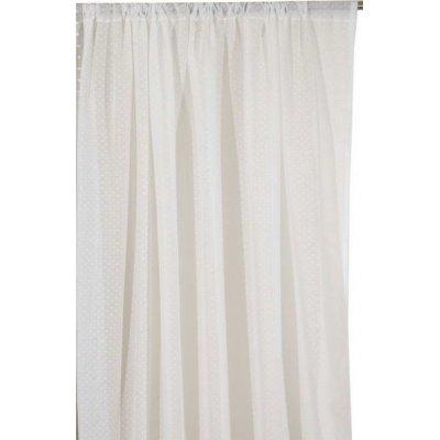 Κουρτίνα με τρέσα 140x270 - Viopros Junior - Γάζα Πουά - Κονφετί Λευκό | Κουρτίνες | DressingHome