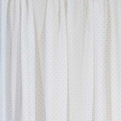 Κουρτίνα με τρέσα 140x270 - Viopros Junior - Γάζα Πουά - Κονφετί Σιέλ | Κουρτίνες | DressingHome