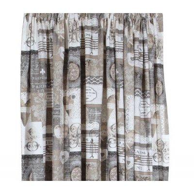 Κουρτίνα με τρέσα 135x270 - Viopros - Λονέτα Εμπριμέ - Κουόρε | Κουρτίνες | DressingHome