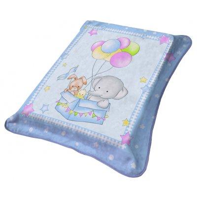 Κουβέρτα Αγκαλιάς / Λίκνου Βελουτέ 80x90 - Viopros Junior - 1024 - Σιέλ | Κουβερτούλες | DressingHome