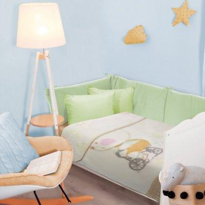 Κουβέρτα Κούνιας Βελουτέ 110x140 - Das Kids - Blanket Line - 6593 | Κουβερτούλες | DressingHome