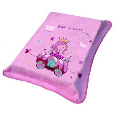 Κουβέρτα Κούνιας Βελουτέ 110x140 - Viopros Junior - 1145 - Ροζ | Κουβερτούλες | DressingHome