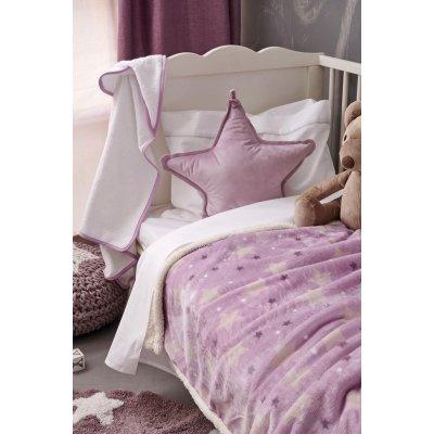 Κουβέρτα Κούνιας Με Γούνα 110x140 - Palamaiki - Sky Girl | Κουβερτούλες | DressingHome