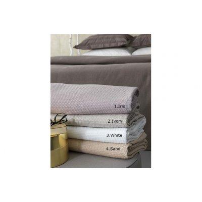Κουβέρτα Μονή / Ημίδιπλη Πικέ 170x240 - Palamaiki - Lyda Blanket - Sand | Κουβέρτες | DressingHome