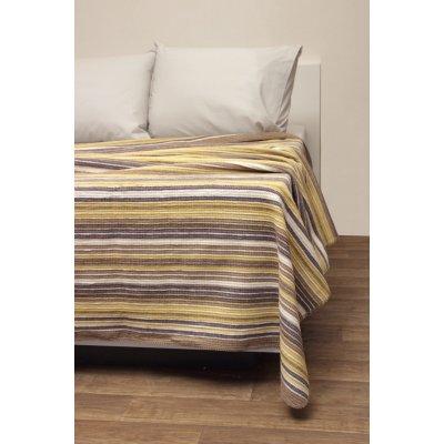 Κουβέρτα Ριγέ Μονή Τύπου Πικέ 160x220 - Viopros - Ριάνα - Μπεζ | Κουβέρτες | DressingHome