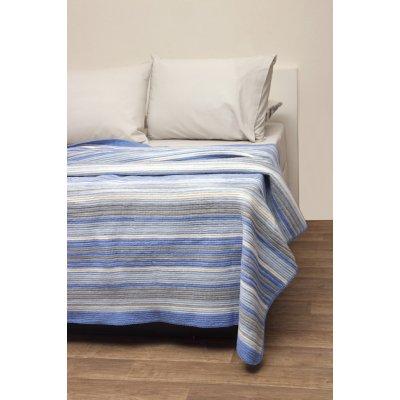 Κουβέρτα Ριγέ Μονή Τύπου Πικέ 160x220 - Viopros - Ριάνα - Σιέλ | Κουβέρτες | DressingHome