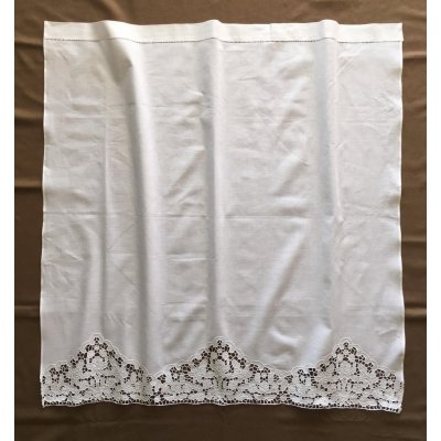 Κουρτίνα Έτοιμη Λινή Κοφτή Κεντητή Χειροποίητη 110x110 - DressingHome - Αμοργός | Κουρτίνες | DressingHome