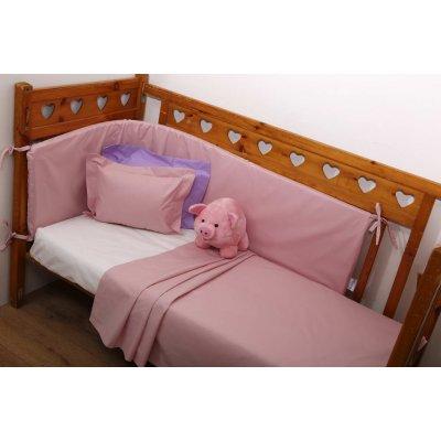 Μεμονωμένο Σεντόνι Κούνιας 120x165 - AnnaRiska - Baby Prestige - 1 - Blush Pink | Μεμονωμένα Σεντονάκια | DressingHome