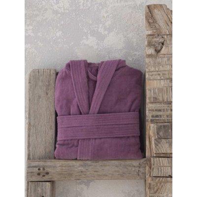 Μπουρνούζι με κουκούλα Large - Nima Home - Zen - Cassis | Μπουρνούζια | DressingHome