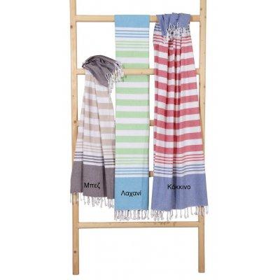 Πετσέτα Θαλάσσης / Παρεό 90x170 - Viopros - Νέλυ - Λαχανί | Πετσέτες | DressingHome