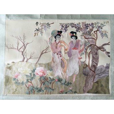 Πίνακας Διακοσμητικός χωρίς κορνίζα Κεντημένος Χειροποίητος 34x24 - DressingHome - Γκέισες | Προσφορές - Σαλόνι Τραπεζαρία | DressingHome