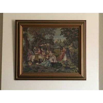 Πίνακας Διακοσμητικός με κορνίζα Κεντημένος Χειροποίητος Γκομπλέν 79x66 - DressingHome - Επιστροφή στη φύση | Προσφορές - Σαλόνι Τραπεζαρία | DressingHome