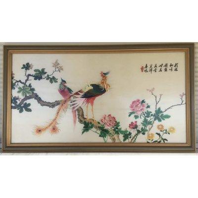 Πίνακας Διακοσμητικός με κορνίζα Μεταξωτός Κεντημένος Χειροποίητος 148x83 - DressingHome - Εξωτικό Πανόραμα | Προσφορές - Σαλόνι Τραπεζαρία | DressingHome