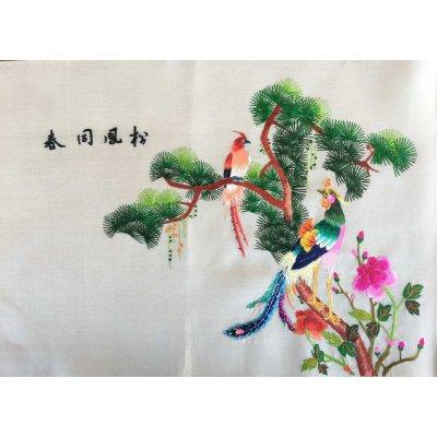 Πίνακας Διακοσμητικός χωρίς κορνίζα Μεταξωτός Κεντημένος Χειροποίητος 45x31 - DressingHome - Εξωτικά Πουλιά 01 | Προσφορές - Σαλόνι Τραπεζαρία | DressingHome
