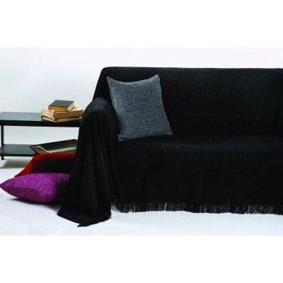 Ριχτάρι Μονοθέσιο / Πολυθρόνας 180x180 - AnnaRiska - 1300 - Black / Μαύρο | Ριχτάρια | DressingHome