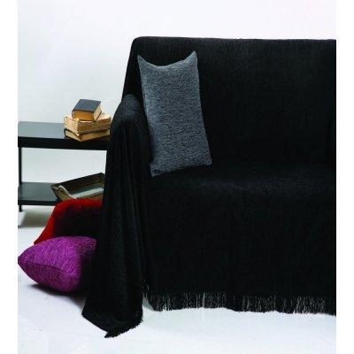 Ριχτάρι Τριθέσιο 180x280 - AnnaRiska - 1300 - Black / Μαύρο | Ριχτάρια | DressingHome