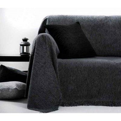 Ριχτάρι Τριθέσιο 180x280 - AnnaRiska - 1300 - Dark Gray / Γκρι Σκούρο | Ριχτάρια | DressingHome