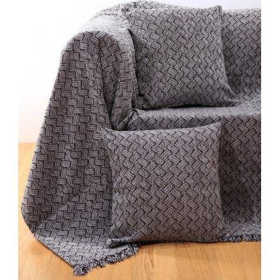 Ριχτάρι Τριθέσιο 180x280 - AnnaRiska - 1422 - Gray / Γκρι | Ριχτάρια | DressingHome