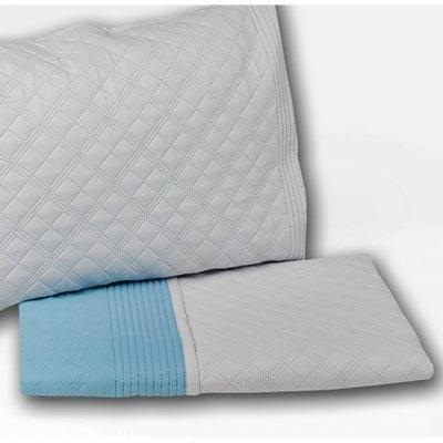 Σετ Κουβερλί 3 τμχ Υπέρδιπλο 220x240 - Nima Home - Cuadro - Fog Gray / Air Blue | Σετ Κουβερλί | DressingHome