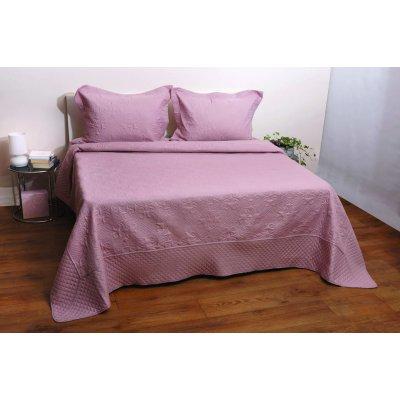 Σετ Κουβερλί 2 τμχ Μονό 160x240 - AnnaRiska - Olivia - Blush Pink / Ροζ | Σετ Κουβερλί | DressingHome