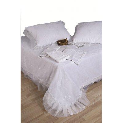 Σετ Κουβερλί Νυφικό 3 τμχ 240x250 - Viopros - 1012 - Λευκό | Κουβερλί Νυφικά | DressingHome