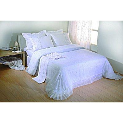 Σετ Κουβερλί Νυφικό 3 τμχ 240x250 - Viopros - 1016 - Λευκό | Κουβερλί Νυφικά | DressingHome