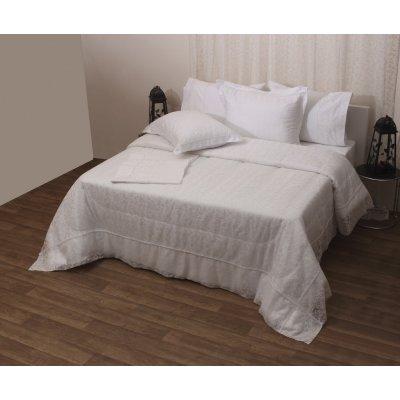 Σετ Κουβερλί Νυφικό 3 τμχ 240x250 - Viopros - 1020 - Λευκό | Κουβερλί Νυφικά | DressingHome