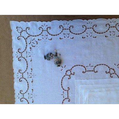 Σετ Καρέ κεντητό με 4 πετσέτες 85x85 - DressingHome - CG755/1223 | Τραπεζομάντηλα | DressingHome