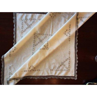 Σετ Καρέ 5 τμχ κεντητό με 4 πετσέτες 85x85 - DressingHome - JCE-180 | Τραπεζομάντηλα | DressingHome