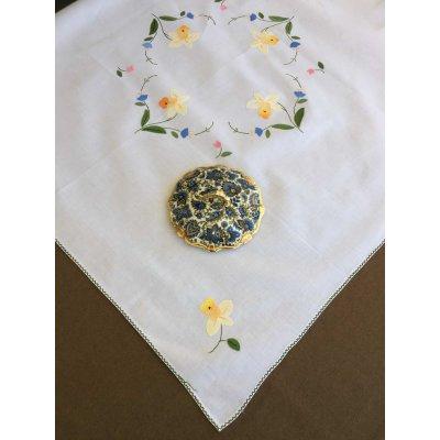 Σετ Καρέ Χειροποίητο κεντητό με 4 πετσέτες 85x85 - DressingHome - B311058 | Τραπεζομάντηλα | DressingHome