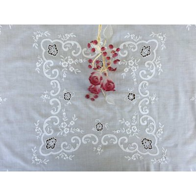 Σετ Καρέ Χειροποίητο κεντητό με 4 πετσέτες 85x85 - DressingHome - C7614-A346W | Τραπεζομάντηλα | DressingHome