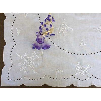 Σετ Καρέ Χειροποίητο κεντητό με 4 πετσέτες 85x85 - DressingHome - KI/A2002   Τραπεζομάντηλα   DressingHome
