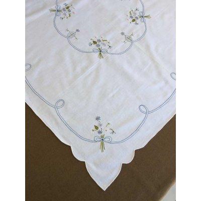 Σετ Καρέ Χειροποίητο κεντητό με 4 πετσέτες 85x85 - DressingHome - NB1279   Τραπεζομάντηλα   DressingHome