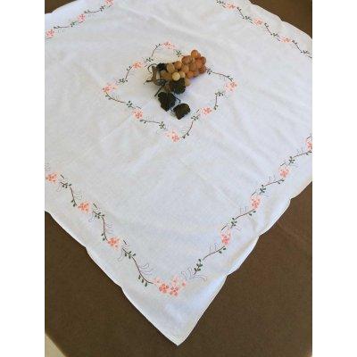 Σετ Καρέ Χειροποίητο κεντητό με 4 πετσέτες 85x85 - DressingHome - NC1825   Τραπεζομάντηλα   DressingHome